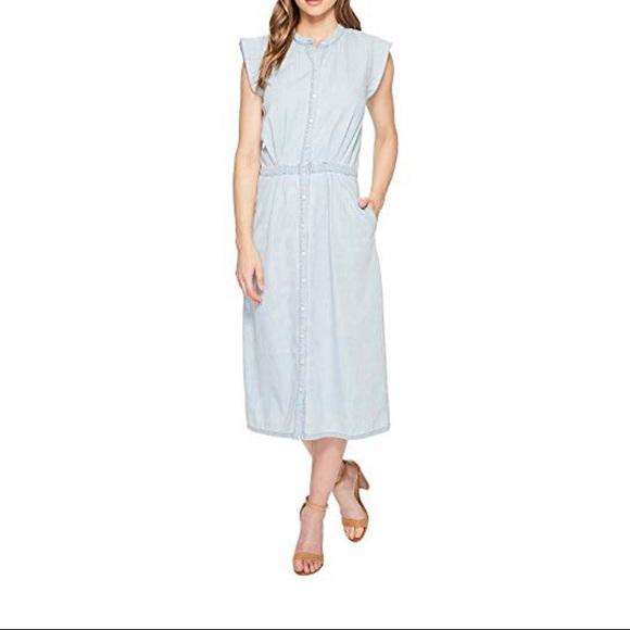 e9636ebe6a Joie Awel Ruffle Chambray Shirtdress